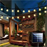 iihome Solar Garden Lights, 60 LED 36ft Waterproof Outdoor String Lights Solar Powered Crystal Ball Decorative Lights for Gar