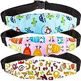 3 pcs Cinturino Supporto Testa Bambini, Rymall Dormire Cintura di Sicurezza, Supporti per la Testa Auto Prima Infanzia, per D