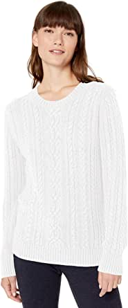 Amazon Essentials Fisherman Cable Crewneck Sweater Donna