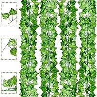Boic Lierre Artificielle Plantes Guirlande Vigne 12 Pcs 6.5 Ft Vegetal Artificiel Lierre Exterieur Décoration pour…