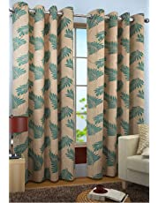 Home Furnishings Faux Silk Candy Door Curtains (7ft, Aqua)