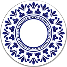 Real Art   Blue Wall   Hanging Plates