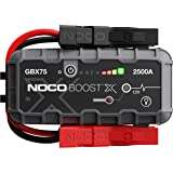 NOCO Boost X GBX75 2500A 12V UltraSafe Lithium Booster Batterie Voiture, Chargeur Power Bank USB-C et Câbles de Démarrage pou