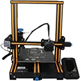 WOL 3D UPGRADED Creality Ender 3 V2 Model 2021 With Orange strip, Upgraded 3D Printer with Silent Motherboard (V 4.2.2) , Bra