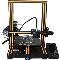 WOL 3D UPGRADED Creality Ender 3 V2 Model 2021 With Orange strip, Upgraded 3D Printer with Silent Motherboard, Branded…