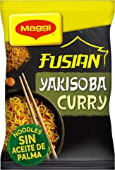 MAGGI FUSIAN Yakisoba Noodles Curry, Fideos Orientales, 117g