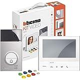 BTICINO 363911 deurluidsprekerkit met videoklasse 300 x13e en lijn 3000 badges, wit