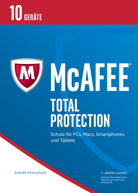 Produktbild McAfee Total Protection 2017 für 10 Geräte (Download Code) [Online Code]