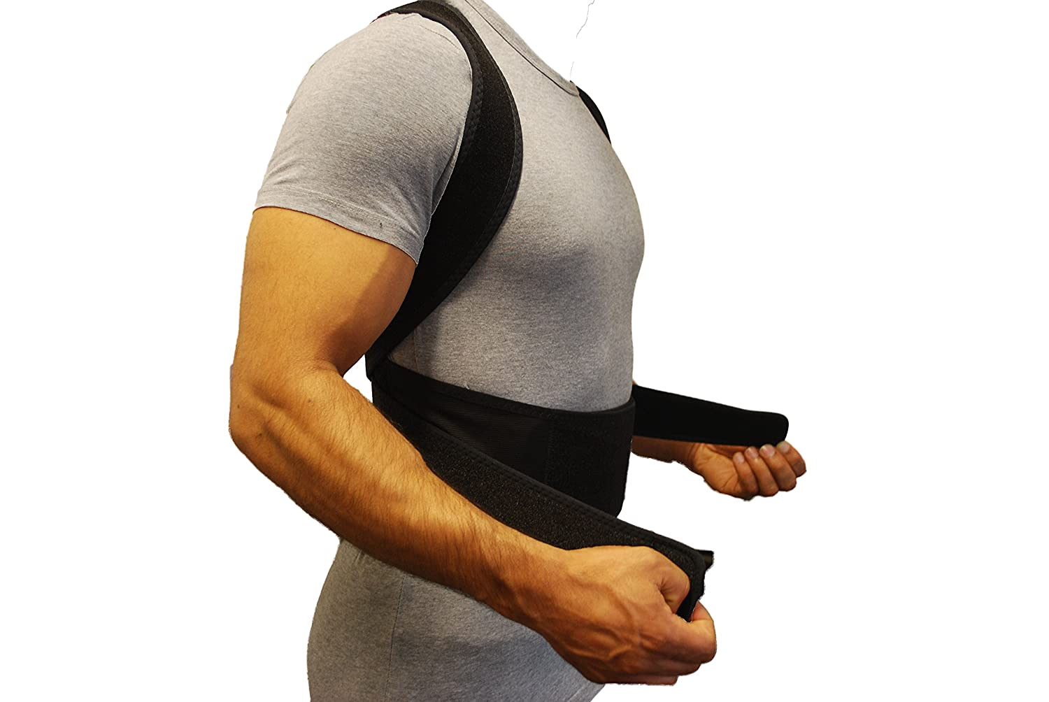 corrector back support highest quality neoprene shoulder back lumbar support breathable adjustable waist belt strap xl n4 amazon co uk