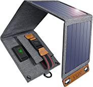 Solar Charger, CHOETECH 14W Waterproof Portable USB Outdoor Solar Panel Charger with 4 Foldable Solar Panel for Smartphone Tablet Camera Power bank Speaker and Camping Travel