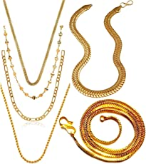 Charms Chain for Men (Golden)(CH-012-18-19-21-22-29)