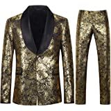 Mens Tuxedo Suits 2 Piece Slim Fit Luxury Casual Wedding Business Dinner Jacquard Suit for Men Jackets Blazer Trousers