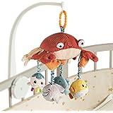 Juguete Colgante del Pesebre Espejo Tiempo Boca Abajo, Cangrejo Actividad de Peluche Animales del Cochecito de Bebé Juguetes