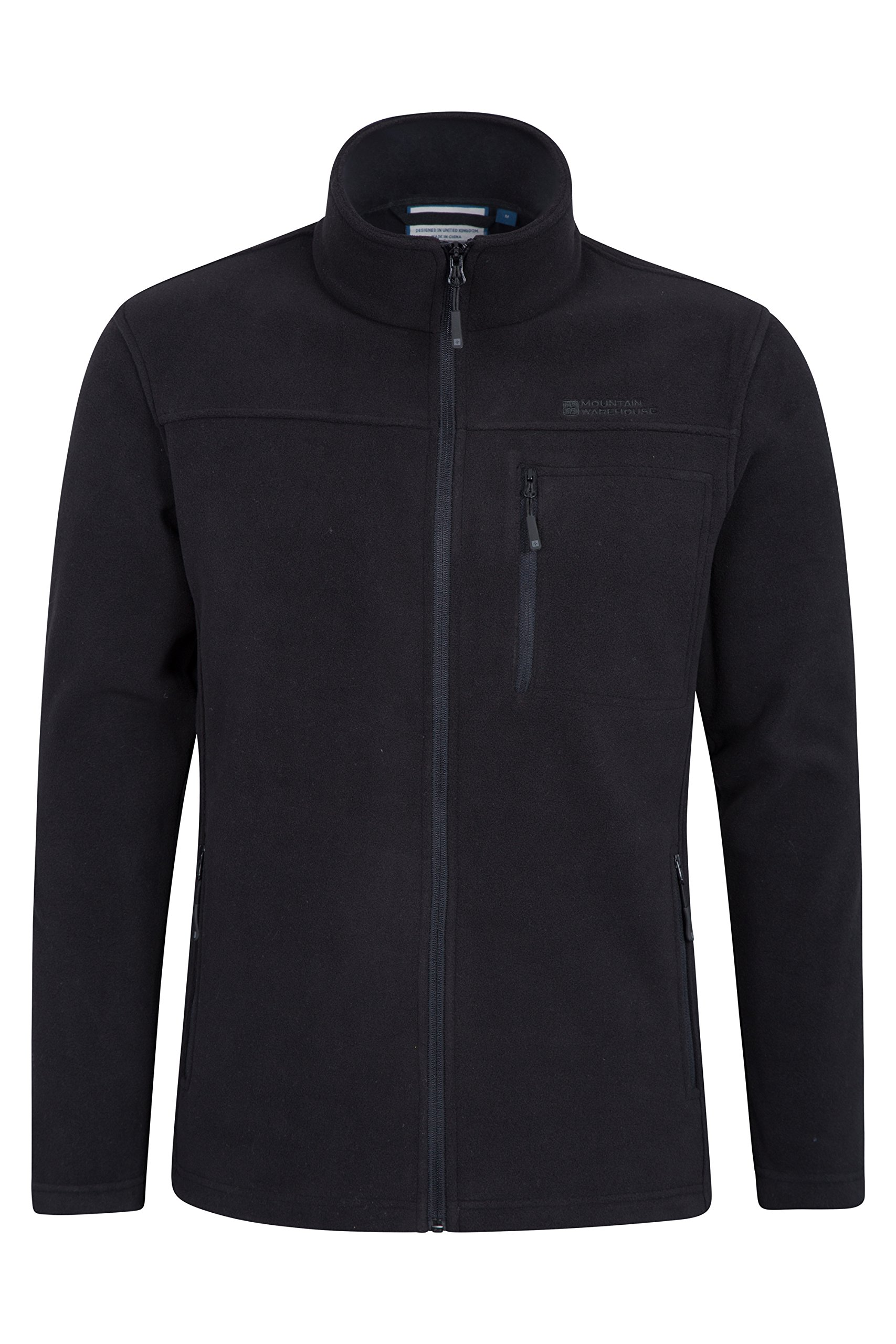 Mountain Warehouse Buchanan Mens Fleece – Warm Jacket, Quick Drying Sweater, Breathable Pullover, Chest Pocket -Ideal…