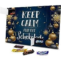 printplanet - XL Adventskalender Mixed Minis Keep Calm and eat Schokolade Sprüche Adventskalender Geschenk - gefüllt mit…