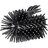 Wenko Ersatzbürstenkopf mit Randreiniger für WC-Garnituren Silikon schwarz 7,5 x 7,5 x 9,3 cm
