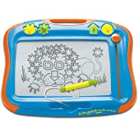 TOMY Megasketcher Magnetic Drawing Board | Large Writing Pad with Magic Eraser | Travel Games For Kids Aged 3 4 5 6 And Over | Measures 45 x 35 cm