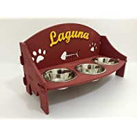 Supporto rialzato per ciotole cane/gatto personalizzato. Tre (3) scodelle rialzate. Porta ciotole personalizzato. Dog…