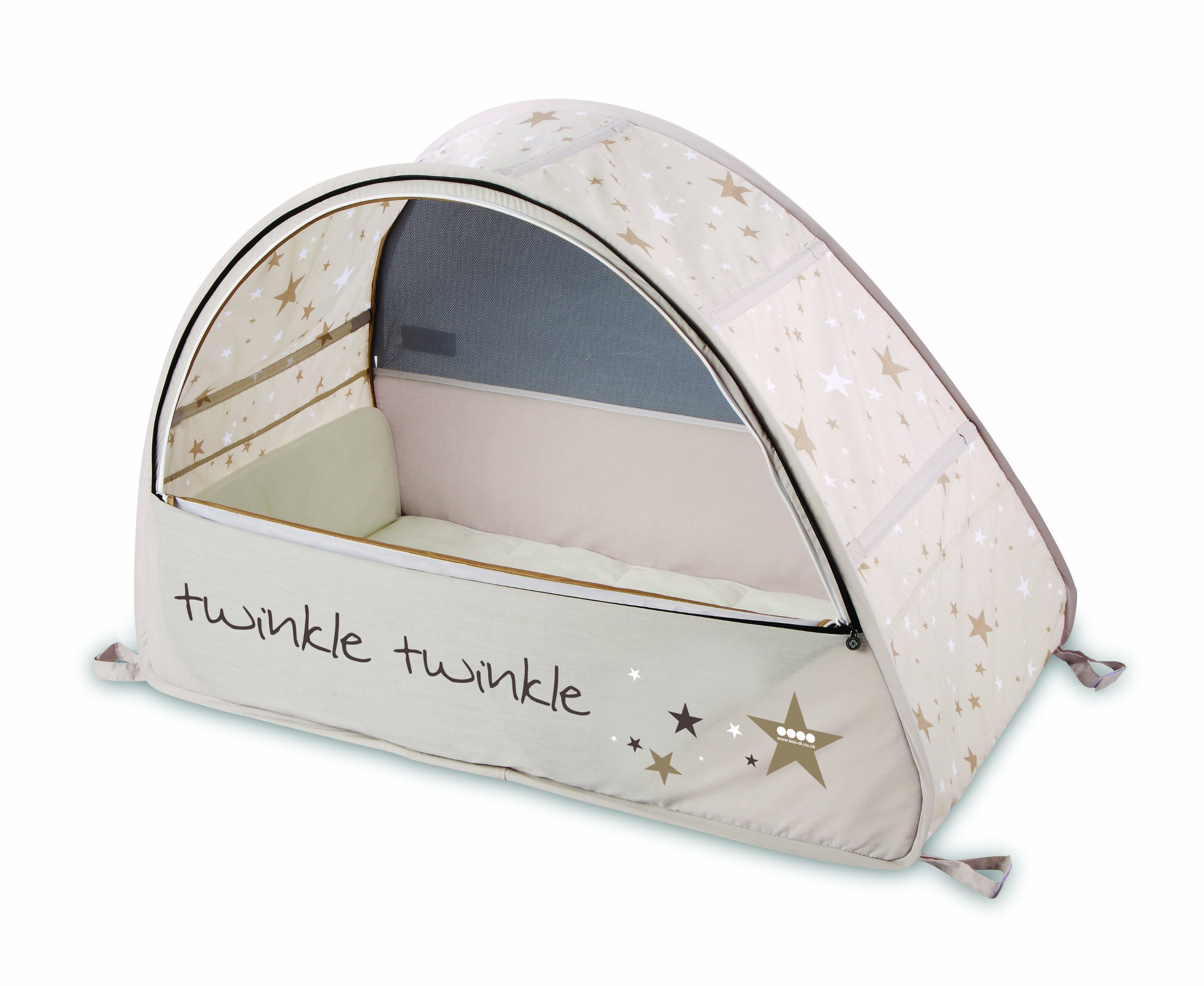 Koo-di 100 x 60 x 73 cm Sun and Sleep Pop Up Travel Bubble Cot  A comfortable cot ideal for use at home and on holidays or weekends away A polycotton travel cot Ideal 6-18 months and when outgrown, makes an ideal playhouse for little ones 3