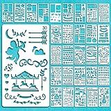 Vidillo Journal accessoires sjablonen set, 30 stuks Bullet Journal sjablonenset tekening schilderij sjabloon voor dagboek, ve