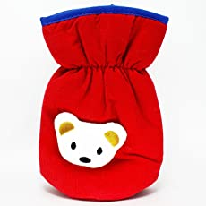 GURU KRIPA Baby Products ® Presents Philips Avent Bottle Cover Plush Stretchable Baby Feeding Bottle Cover with Back Handle (Red)