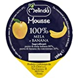Melinda Mousse di Mele e Banana, Multicolore, 100 Gr