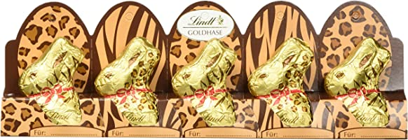 Lindt & Sprüngli Goldhase Mini, Limited Edition, 5er Pack (5 x 50 g)