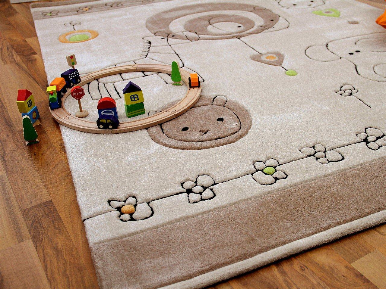 Kinderteppich braun  Lifestyle Kinderteppich Babywelt Beige Braun in 3 Größen ...