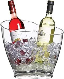 SAN Plastic 20 x 20 x 21 cm TableCraft Wine Bucket with Knob Handles x 2 20 cm x 20 cm x 21 cm