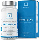 Complément probiotique [30 milliards] 60 gélules à libération contrôlée - 15 + Probiotique - y compris Lactobacillus Acidophilus, Bifidobacterium et Streptococcus - Avec aide au système immunitaire