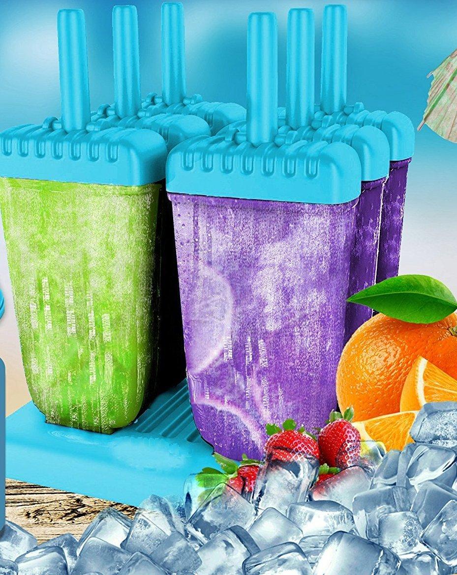 HelpCuisine® Stampi ghiaccioli - Stampi per Gelati Realizzati in plastica di Alta qualità priva di BPA e Approvata dalla… 4 spesavip