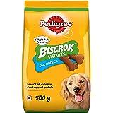 Pedigree Biscrok Biscuits Dog Treat (Above 4 months) Chicken Flavour, 500g Pack