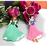 KIDOS JOY™ Cute Beautiful Soft Washable Barbie Key- Chain for School Office Bag/ Door Key-Ring/ car Key-Ring/Party Favor Keyr