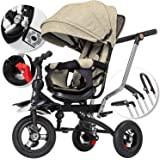 KESSER® Dreirad Kinderdreirad Kinder Lenkstange Dach Fahrrad Baby Kleinkinder