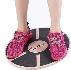 Sportneer Wackelbrett Balance Board Holz Durchmesser 40cm Gleichgewicht Board- professionel für die Übung, Gym, Sport Performance Enhancement, Rehab, Ausbildung(1PACK)
