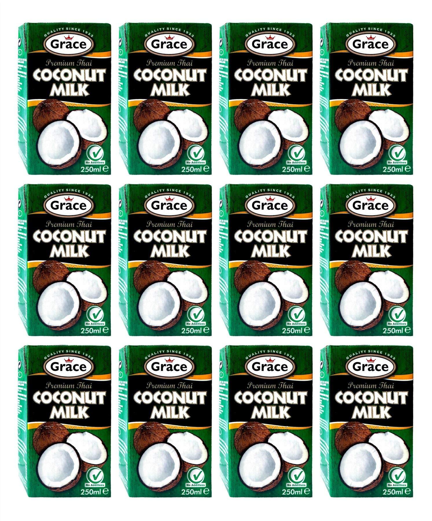 Grace Premium Coconut Milk 250ml (Pack of 12) 1