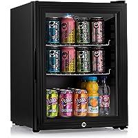 Subcold Super35 LED - Mini Fridge   35L Beer, Wine & Drinks Fridge   LED Light + Lock and Key   Low Energy A++ (Black)