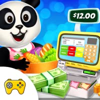 Panda's Supermarket Shopping Fun