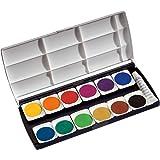 Herlitz 10116655 Schulmalfarben bzw. Deckfarbkasten, 12 Farben inklusive Deckweiß