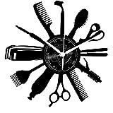 Instant Karma Clocks Orologio in Vinile da Parete Giri Idea Regalo Vintage Handmade Barber Shop Barbiere Parrucchiere Barba C