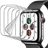 UniqueMe 5 Pack Protector de Pantalla Compatible con Apple Watch 44mm Series 6/5/4/ SE y Apple Watch Series 3/2/1 42mm,Sin Bu