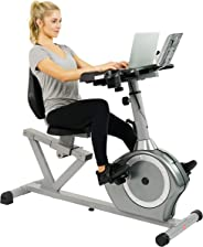Sunny Health & Fitness Unisex Adult SF-RBD4703 Convertible Recumbent Bike - Silver, One Size