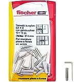 Fischer pluggen SX 4G met vierkante haken zilver in blister, 10 stuks, 541978