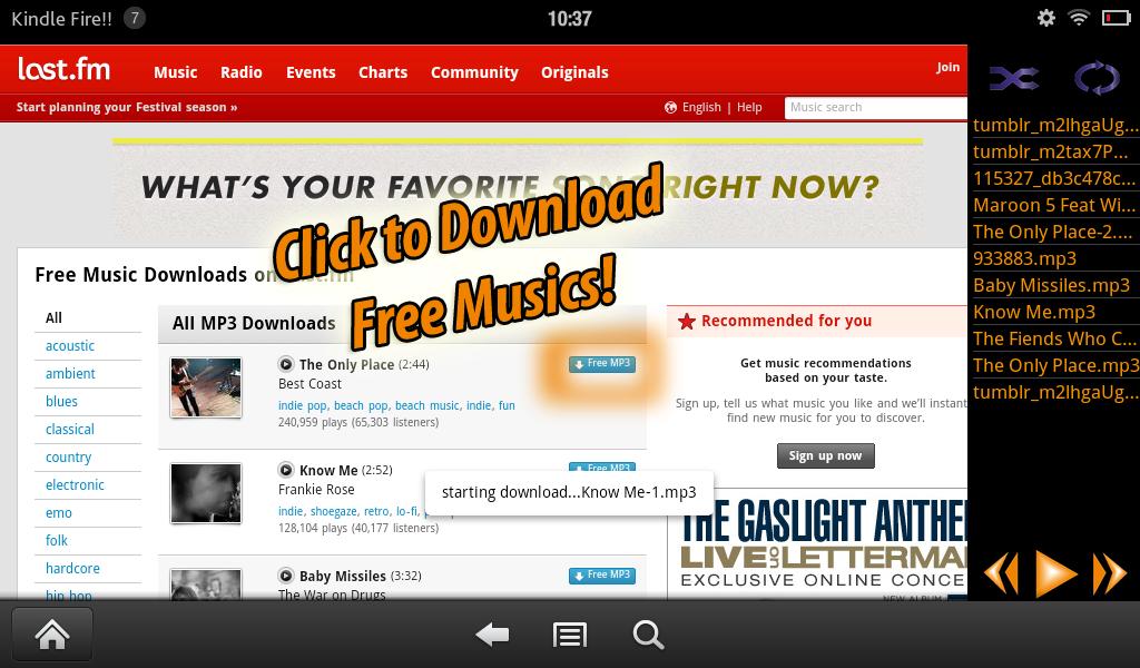 amazon music downloads free