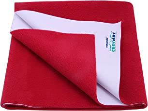 Newnik Reusable Absorbent Sheets/Underpads (Size: 200cm X 260cm) Maroon, Double Bed