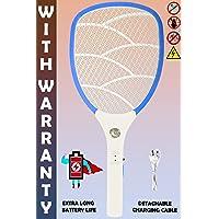 WEIRD WOLF Wide Range Rechargeable Mosquito Killer Bat Racket (Multicolour)