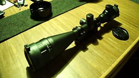 ESSLNB Zielfernrohr 22mm Schiene 6-24x50 Airsoft Zielfernrohr Luftgewehr AOEG Mil Dot Entfernungsmesser f/ür Jagd Softair und Armbrust