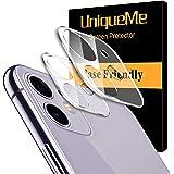 [2-pack] UnqiueMe kameralinsskydd kompatibel med iPhone 11, [bubbelfri] Ultra klar tunn härdat glas skärmkamera linsskydd ful