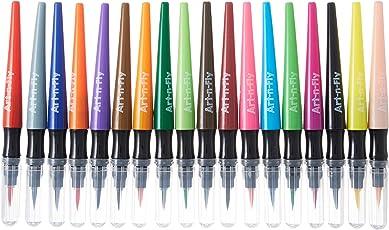 18 Brush Pens Set for Drawing Watercolor Pens Calligraphy Marker Set for Lettering Manga Illustration