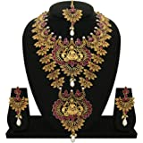 Matushri Art Gold-Plated Necklace Set for Women & Girls